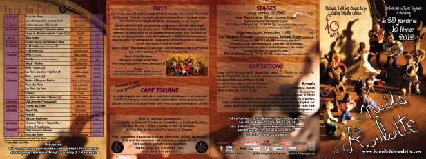 Programme LNR 2012 recto